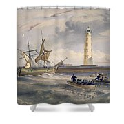 The Lighthouse At Cape Chersonese Shower Curtain