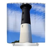 The Lighthouse At Hunting Island State Park In South Carolina Shower Curtain