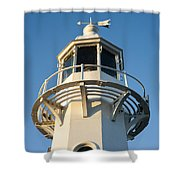 The Lighthouse At Mevagissy Shower Curtain