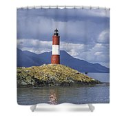 The Lighthouse At The End Of The World Shower Curtain