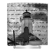 The Lighthouse Poem Shower Curtain