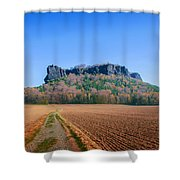 The Lilienstein On An Autumn Morning Shower Curtain