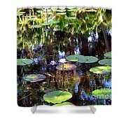 The Lily Pond Shower Curtain