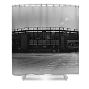The Linc In Black And White Shower Curtain