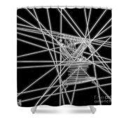 The Lines Of Martha Graham L Bw Shower Curtain