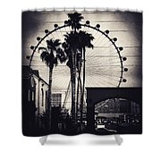 The Linq-las Vegas Bw Shower Curtain