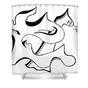 The Lion And Horse Shower Curtain