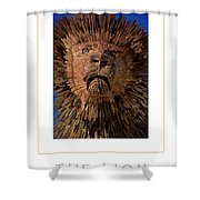 The Lion Poster Shower Curtain