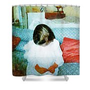 The Little Angel  Shower Curtain