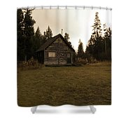 The Little Cabin In The Woods Shower Curtain