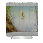 The Little Chapel In The Valley Shower Curtain