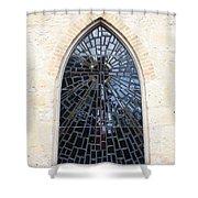 The Little Church Window Shower Curtain
