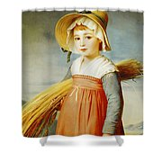 The Little Gleaner Shower Curtain by Christophe Thomas Degeorge