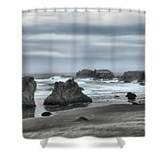 The Little Jogger Shower Curtain