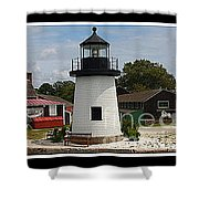 The Little Lighthouse At Mystic Shower Curtain