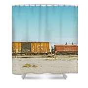 The Little Red Engine Shower Curtain