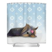 The Little Thinker  Shower Curtain