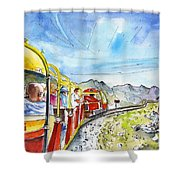 The Little Train Of Artouste Shower Curtain