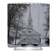 The Little White Church Shower Curtain