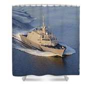 The Littoral Combat Ship Shower Curtain