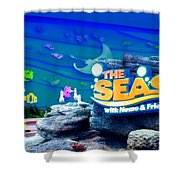 The Living Seas Signage Walt Disney World Shower Curtain