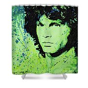 The Lizard King Shower Curtain by Chris Mackie
