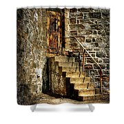 The Locked Door Shower Curtain by Lois Bryan