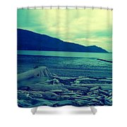 The Logs  Shower Curtain