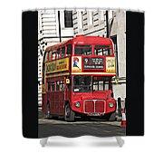 Vintage London Bus Shower Curtain