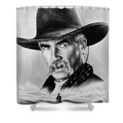 The Lone Rider  Wash Effect Shower Curtain