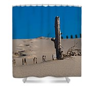 The Lonely Driftwood Shower Curtain