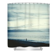 The Lonely Fisherman Shower Curtain