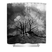 The Lonely Grave Shower Curtain