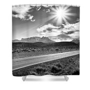 The Lonely Road Shower Curtain