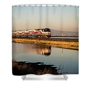 The Long Commute Shower Curtain