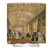 The Long Gallery At Lanhydrock Shower Curtain