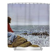 The Long Goodbye Shower Curtain by Don Perino