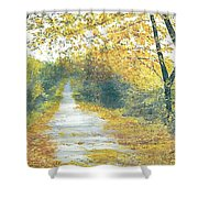 The Long Road Home - Oil Shower Curtain