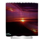 The Longest Sunset Shower Curtain