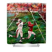 The Longest Yard Named  Shower Curtain by Mark Moore