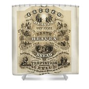The Lords Prayer Shower Curtain by Bill Cannon