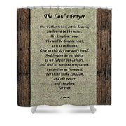 The Lord's Prayer Shower Curtain