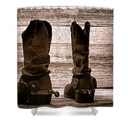 The Lost Boots Shower Curtain