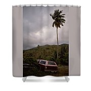 The Lost Cars Shower Curtain