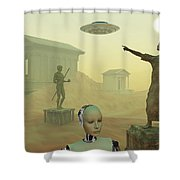 The Lost City Of Atlantis Shower Curtain