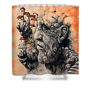 The Lost City - The Sentinel Shower Curtain