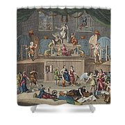 The Lottery, Illustration From Hogarth Shower Curtain