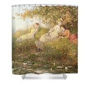 The Lotus Eaters, 1893 Shower Curtain