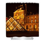 The Louvre At Night Shower Curtain