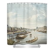 The Louvre, From Views On The Seine Shower Curtain
